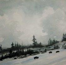 Image of Glannon, Edward - Snow with Buffalo