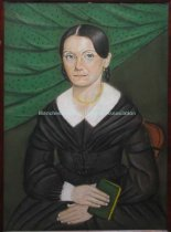 Image of Pastel portrait of a woman holding a book - 0000.8231.001