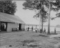 Image of Massabesic Lake, Fletcher's Island Pavilion on back pond - PH 571