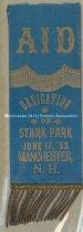 Image of Ribbon - A I D - Dedication of Stark Park, June 17, 1893 - 1948.057.017-C