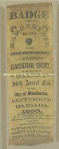 Image of Badge - Membership to the New Hampshire State Agricultural Society - Sixth Annual Fair - September 12, 13 & 14, 1855 - 1948.057.039-B