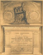 Image of Membership Certificate, Lincoln Memorial Association of Manchester - 1949.046.007