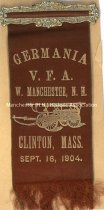 Image of Badge - Germania - Veterans Firemen's Association - W. Manchester - 1904  - 1949.076.003N