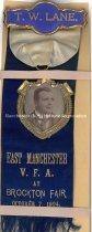 Image of Fireman's Muster Badge - East Manchester Veteran Firemen's Association, 1903  - 1949.076.003Q