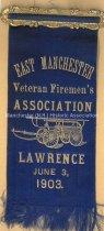Image of Fireman's Muster Badge - East Manchester Veteran Firemen's Association, 1903  - 1949.076.003R