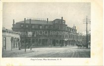 Image of Postcard, Clapp's Corner, West Manchester, N.H. - 1950.062.155
