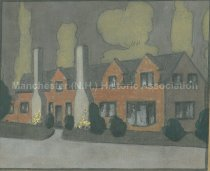 Image of Painting of Amoskeag Worker Housing - 1950.064.028