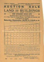 Image of Auction of Land and Buildings Advertisement - 1951.004.052