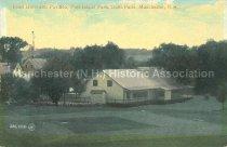 Image of Postcard, Elms Hotel and Pavilion, Pine Island Park, Goffs Falls, Manchester, N.H. - 1952.045.012