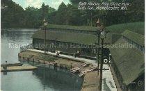 Image of Postcard, Bath Houses, Pine Island Park, Goffs Falls, Manchester, N.H. - 1952.045.015