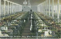 Image of Postcard, Weaving Room, Amasky (Amoskeag) Mill No. 11, Manchester, NH - 1952.045.037