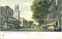 Image of Postcard, Manchester, N.H., Elm Street looking north - 1952.045.053