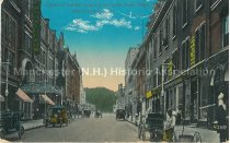 Image of Postcard, Hanover Street looking toward Post Office, Manchester, N.H. - 1952.049.014