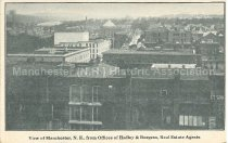 Image of Postcard, View of Manchester, N.H., from Offices of Hadley & Burgess, Real Estate Agents - 1953.043.017