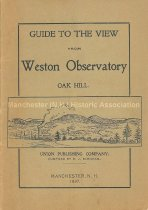 Image of Guide to the view from Weston Observatory, Oak Hill / compiled by E. J. Burnham. - Burnham, E. J.
