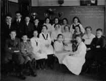 Image of Group Portrait— Straw School Graduation Class - 1921 - 1955.004.003
