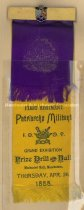 Image of Badge - First Regiment Patriachs Militant - I.O.O.F. Grand Exhibition, 1888