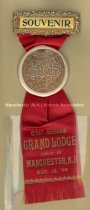 Image of Badge - I.O.O.F. - Souvenir - 61st Session - Grand Lodge Held in Manchester, N.H., 1904 - 1957.018.017