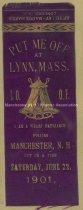 Image of Odd Fellows Ribbon - Manchester Pilgrimage to Lynn, Mass., 1901 - 1957.018.024