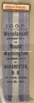 Image of Badge - I.O.O.F. Wonolanset Encampment No. 2 and Mount Washington Encampment No. 16, 1901 - 1957.018.026