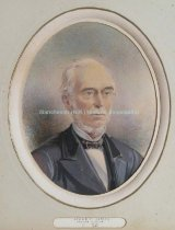 Image of Watercolor portrait of Jacob F. James, Mayor