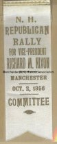 Image of Ribbon, N.H. Republican Rally for Richard M. Nixon, 1956 - 1961.020.003