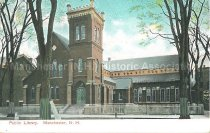 Image of Postcard, Public Library, Manchester, NH - 1967.025.021