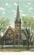 Image of Postcard, First Cong. Church, Manchester, NH - 1967.025.037.3