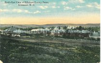 Image of Postcard, Bird's Eye View of Hillsboro County Farm, Grasmere, N.H. - 1967.025.068