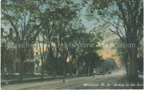 Image of Postcard, Manchester, N.H., Looking up Elm Street - 1970.033.007