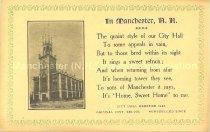 Image of Postcard, City Hall, Manchester, NH - 1970.033.018
