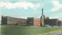 Image of Miniature Postcard, Beacon Shoe Factory, Manchester, N.H. - 1970.033.022