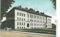 Image of Postcard, Manchester, NH, High School - 1970.086.009