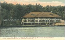 Image of Postcard, New Pavilion and Cafe, Pine Island Park, Manchester, New Hampshire - 1970.086.034