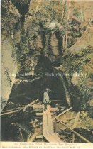Image of Postcard, The Devil's Hole Pulpit, Manchester, New Hampshire (Bedford, NH) - 1970.086.039