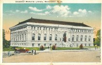 Image of Postcard, Carpenter Memorial Library, Manchester, NH - 1971.049.001