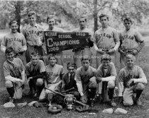 Image of Group Portrait— Straw School Baseball Team - 1933 - 1972.110.025