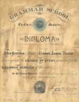 Image of Grammar School Diploma of Clarence Eugene Dunbar - 1972.141.066