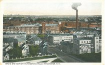 Image of Postcard, Bird's Eye View of the Amoskeag Mills, Manchester, NH - 1972.144.002