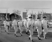Image of Veterans Day Parade, First New Hampshire Regiment, Ceremonial Unit - November 11, 1973. - 1973.123.005