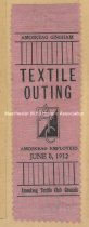 Image of Ribbon, Amoskeag Textile Club Texting Outing - June 8, 1912 - 1973.505