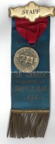 Image of Staff Badge, Manchester Semi-Centennial, Sept. 7, 8 & 9, 1896 - 1973.541.001