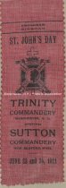 Image of Ribbon, St. John's Day - Trinity Commandery, Manchester, N.H., 1911 - 1973.544.003