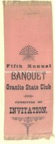 Image of Ribbon - Granite State Club Fifth Annual Banquet  - 1973.556.003