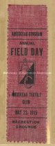 Image of Ribbon, Amoskeag Textile Club Annual Field Day  - May 22, 1915 - 1973.557.006