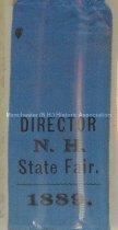 Image of Ribbon, Director - N. H. State Fair - 1889 - 1973.569.003