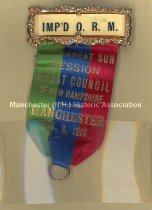 Image of Badge - Improved Order of Red Men 30th Great Sun Council, 1910 - 1973.573.003