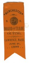 Image of Badge, Manchester N. H. Board of Trade Outing - Lawrence, Mass., 1899 - 1973.576.003