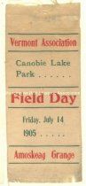 Image of Ribbon - Vermont Association & Amoskeag Grange Field Day, 1905 - 1973.580.015
