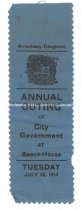 Image of Ribbon, Annual Outing of City Government - July 28, 1914 - 1973.583.003